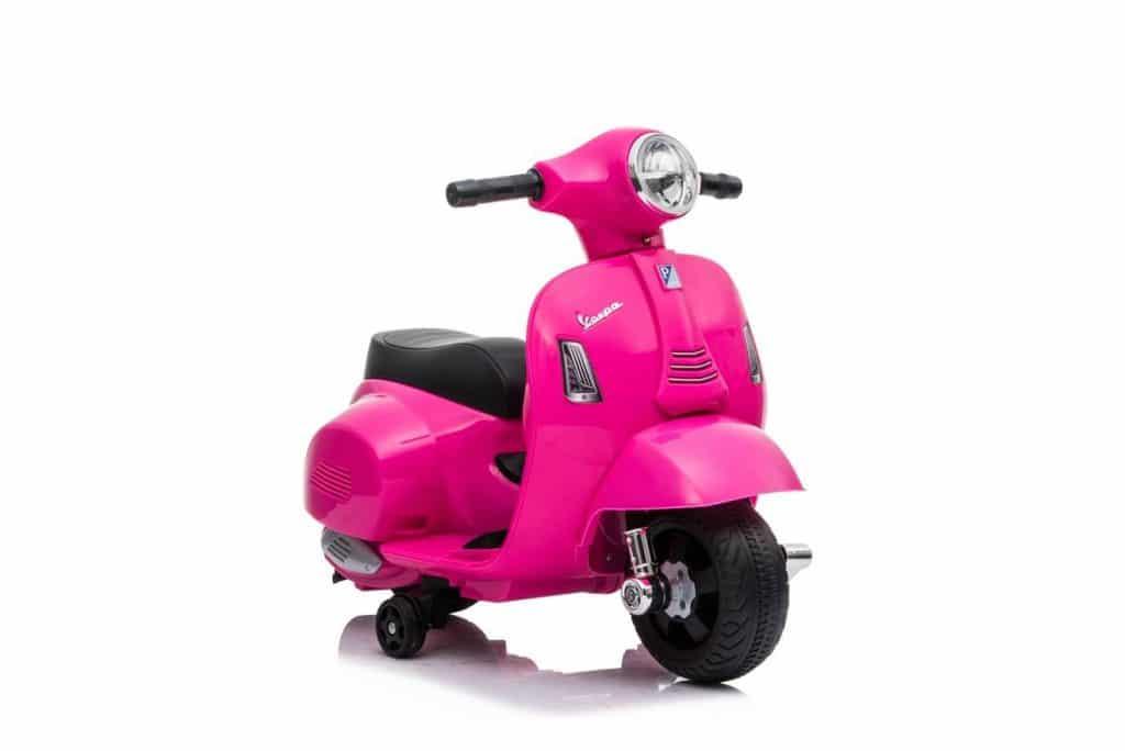 Mini Vespa eléctrica rosa Juguetoon